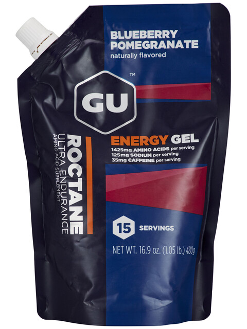 GU Energy Roctane Energy Gel Urheiluravinto Blueberry Pomegranate 480g